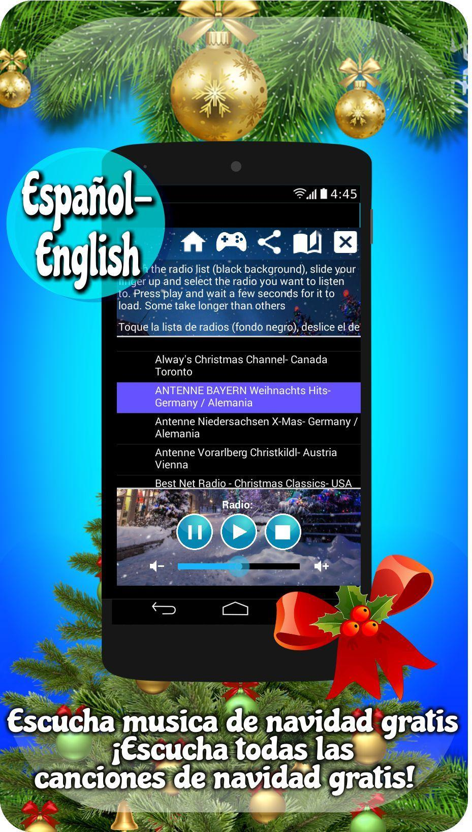 Free Christmas Radio.Free Christmas Radio App Radio Christmas Music For Android