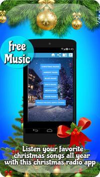 Free christmas radio apps: free xmas radio station poster