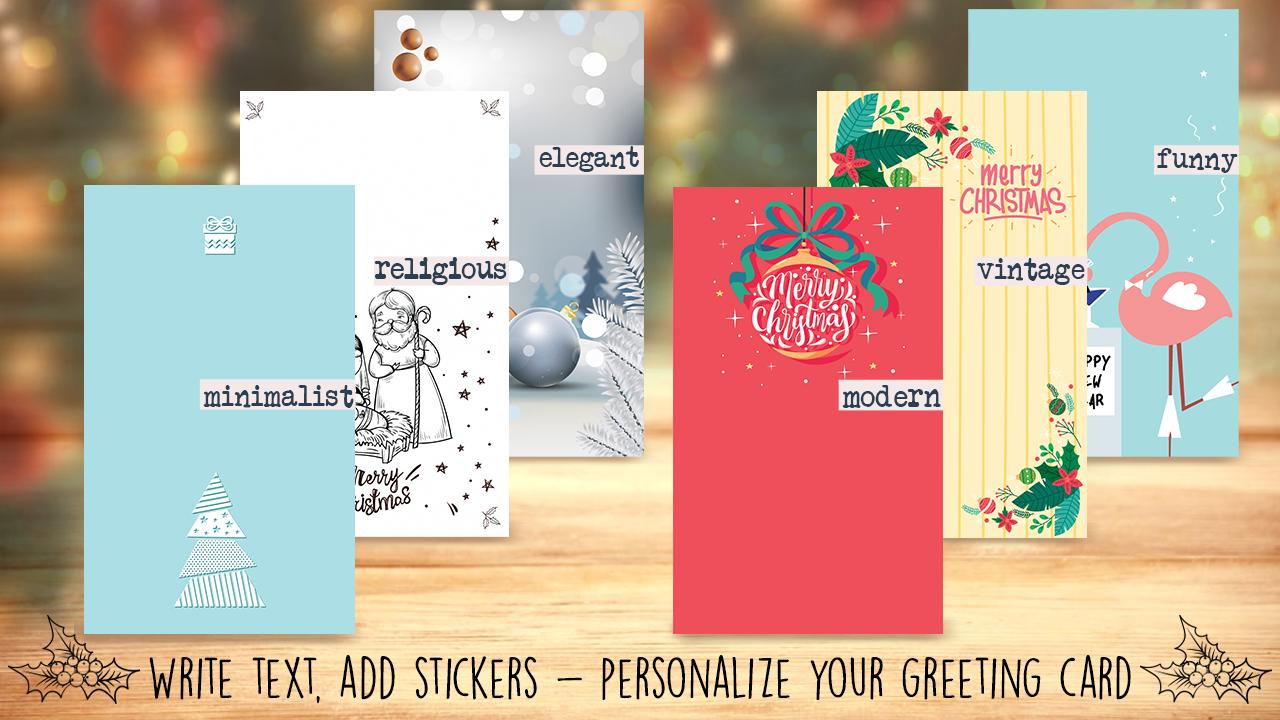 Christmas Cards Make Your Own Greeting Cards For Android