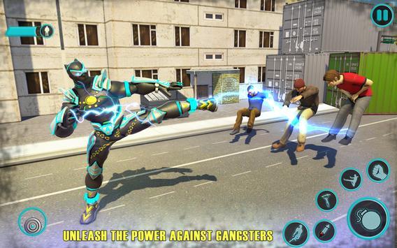 Flying Panther Robot Hero: Robot Black Hero Games screenshot 4