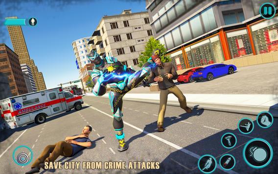 Flying Panther Robot Hero: Robot Black Hero Games screenshot 8