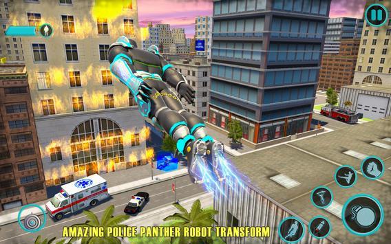 Flying Panther Robot Hero: Robot Black Hero Games poster