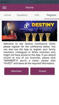 FCC Conference Registration App screenshot 1