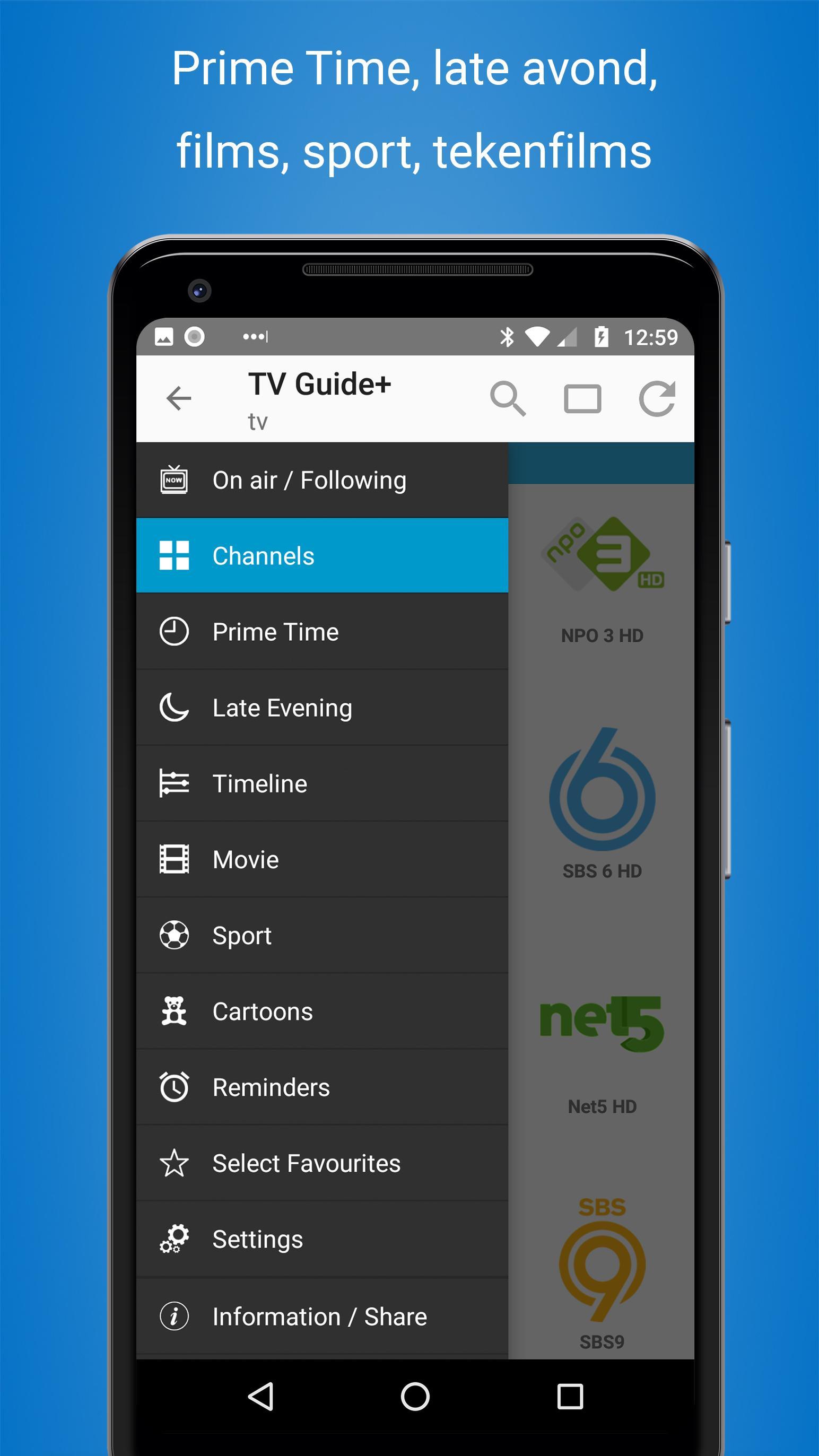 TV gids Nederland   Cisana TV+ para Android   APK Baixar