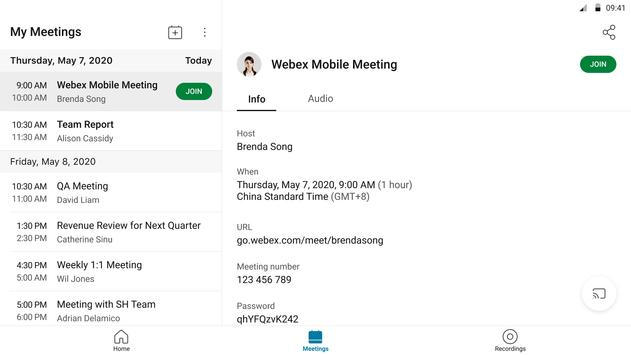 Cisco Webex Meetings9