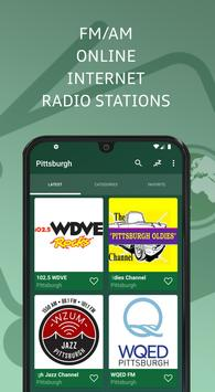Pittsburgh 📻 AM FM Online Radio Stations - USA poster