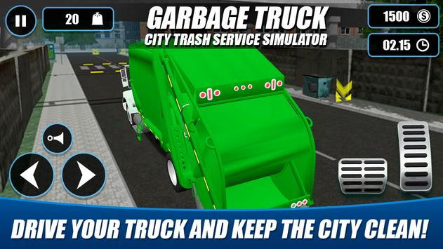 Garbage Truck - City Trash Service Simulator 截图 3