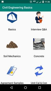 Civil Engineering Basics الملصق