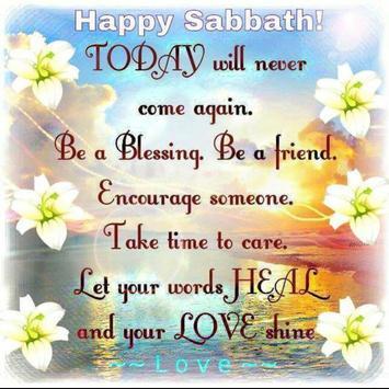 Happy Sabbath Quotes تصوير الشاشة 5