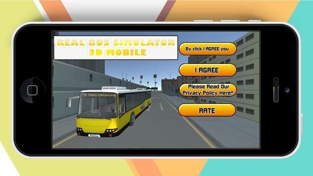 Real Bus Simulator 3D Mobile poster
