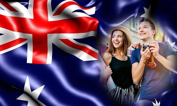 Australia Day photo frames poster