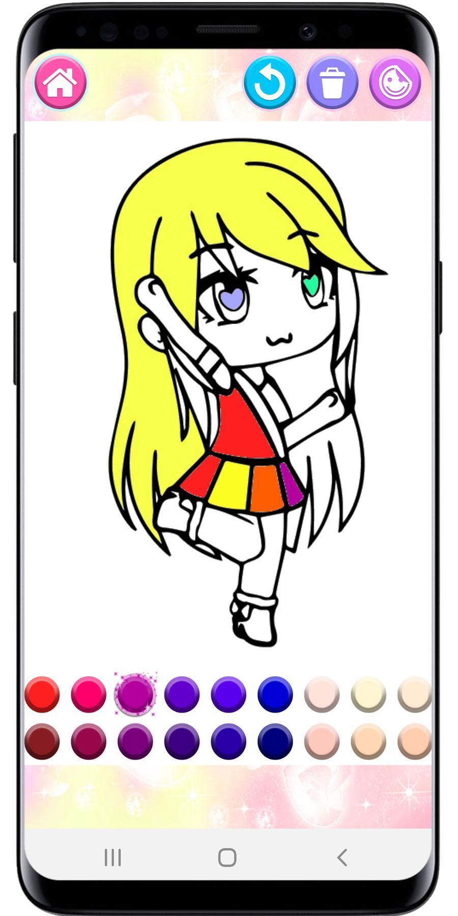 Gacha Life Girl Coloring Pages