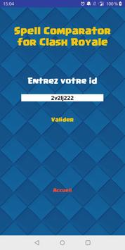 Spell Comparator pour Clash Royale screenshot 1