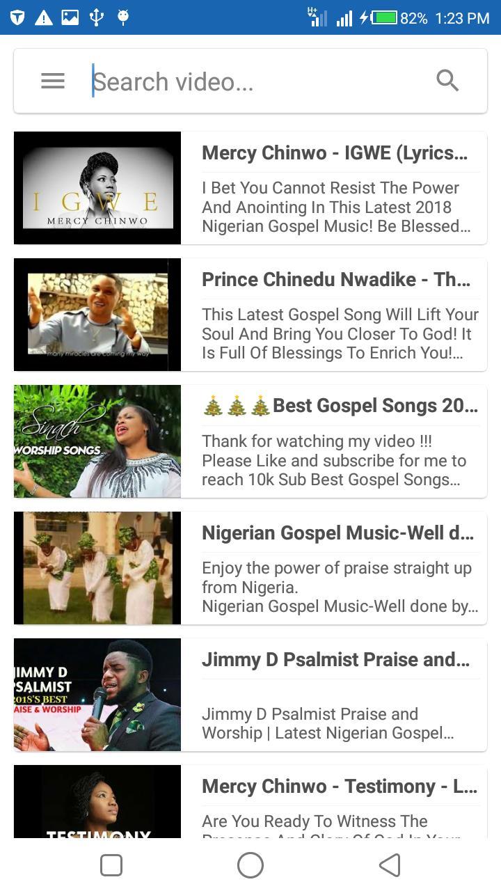 Nigerian Gospel Music : 🇳🇬 Worship Songs para Android