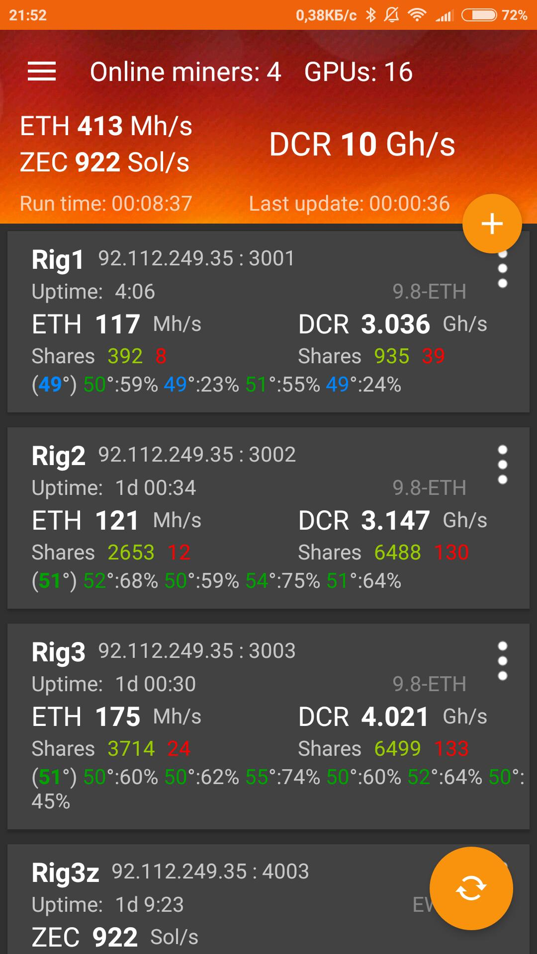 Claymore Cryptonote Gpu Miner claymore`s monitor for android - apk download