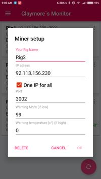 Claymore`s Monitor screenshot 3