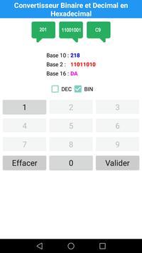 Convertisseur Decimal et Binaire en Hexadecimal poster
