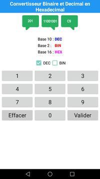 Convertisseur Decimal et Binaire en Hexadecimal screenshot 1