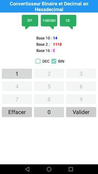 Convertisseur Decimal et Binaire en Hexadecimal screenshot 3