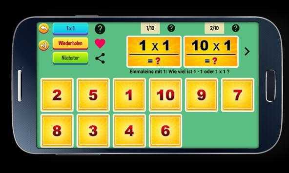 Multiplication Tables screenshot 4