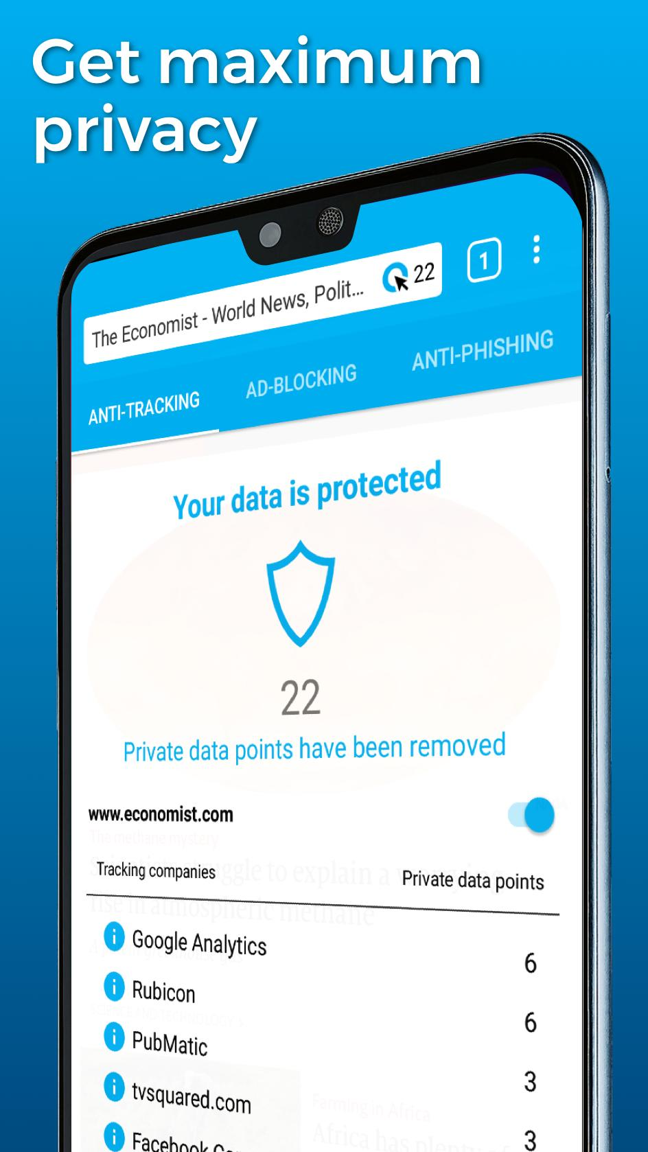 Madison : دانلود ghostery privacy browser