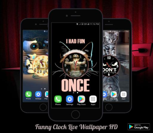 Funny Clock Live Wallpaper Hd For Android Apk Download