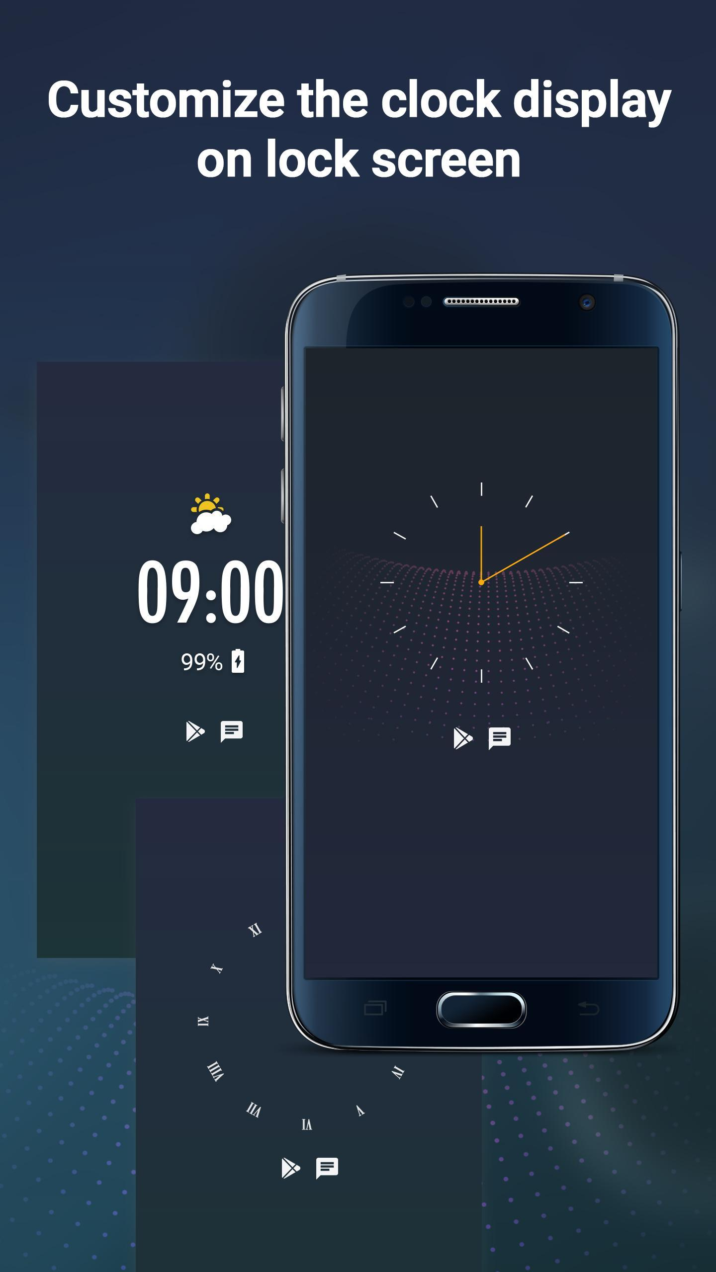 Display Clock On Lockscreen, Clock On Sleep Screen for