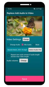 Replace Add Audio to Video screenshot 2
