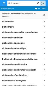 Français-Français Dictionnaire screenshot 1