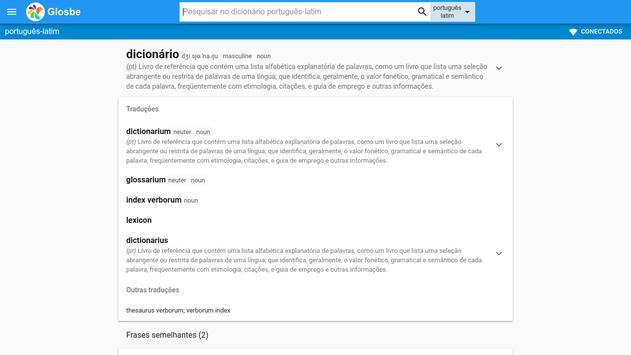 Latim-Português Dicionário screenshot 6