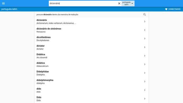 Latim-Português Dicionário screenshot 7