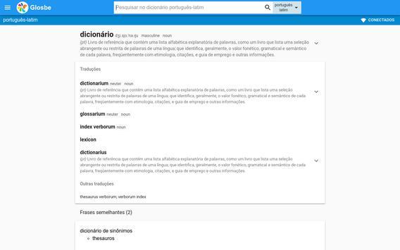 Latim-Português Dicionário screenshot 3