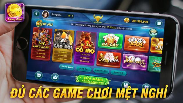 Game đánh bài dân gian LÀNG NHÔ poster