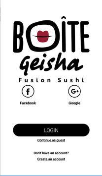 Boite Geisha poster