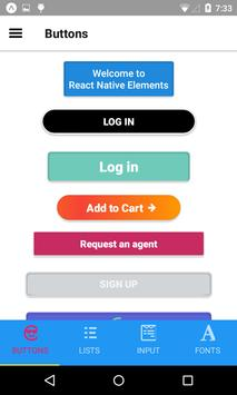 React Native Elements Demo screenshot 3