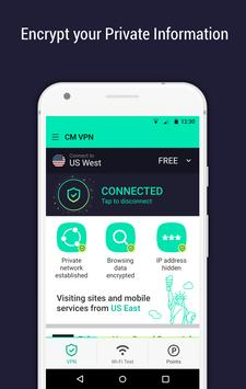 CM Security Open VPN - Free, fast unlimited proxy screenshot 3