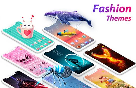 C launcher:DIY themes,hide apps,wallpapers,2020 screenshot 5