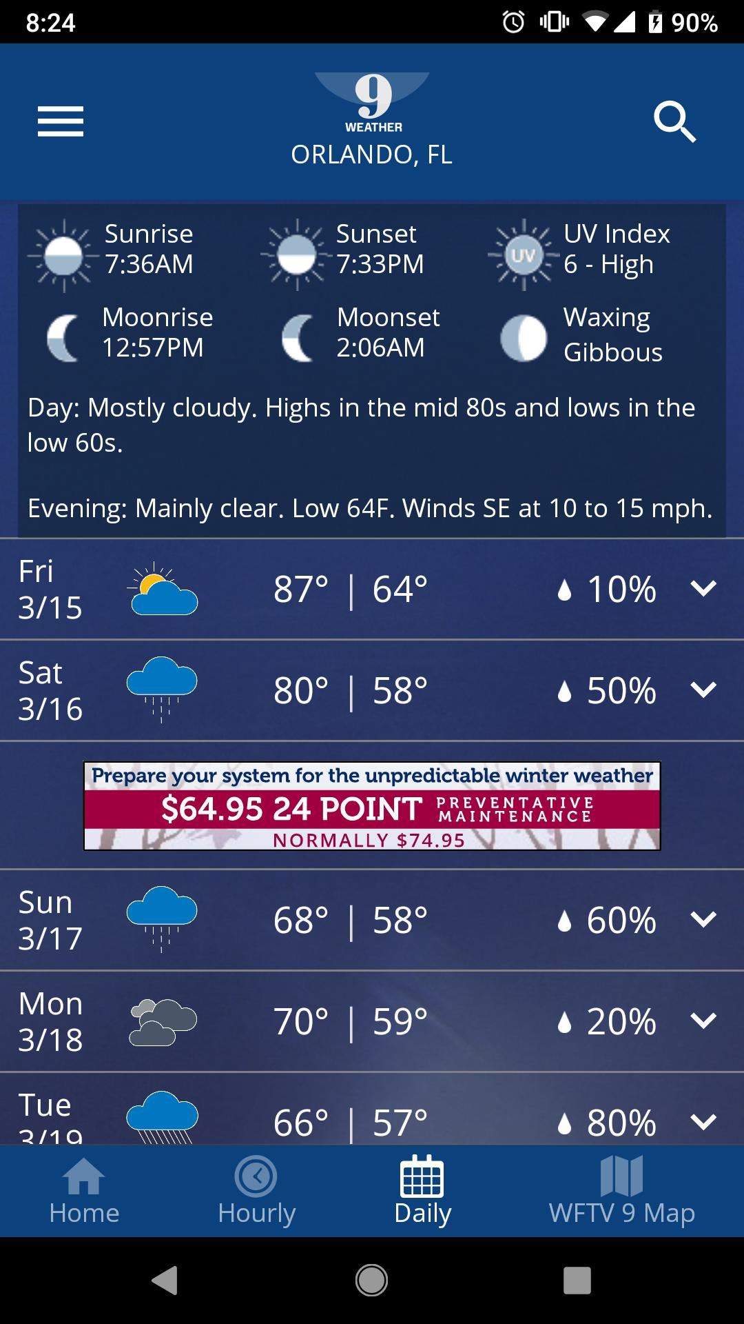 WFTV Channel 9 Weather for Android - APK Download
