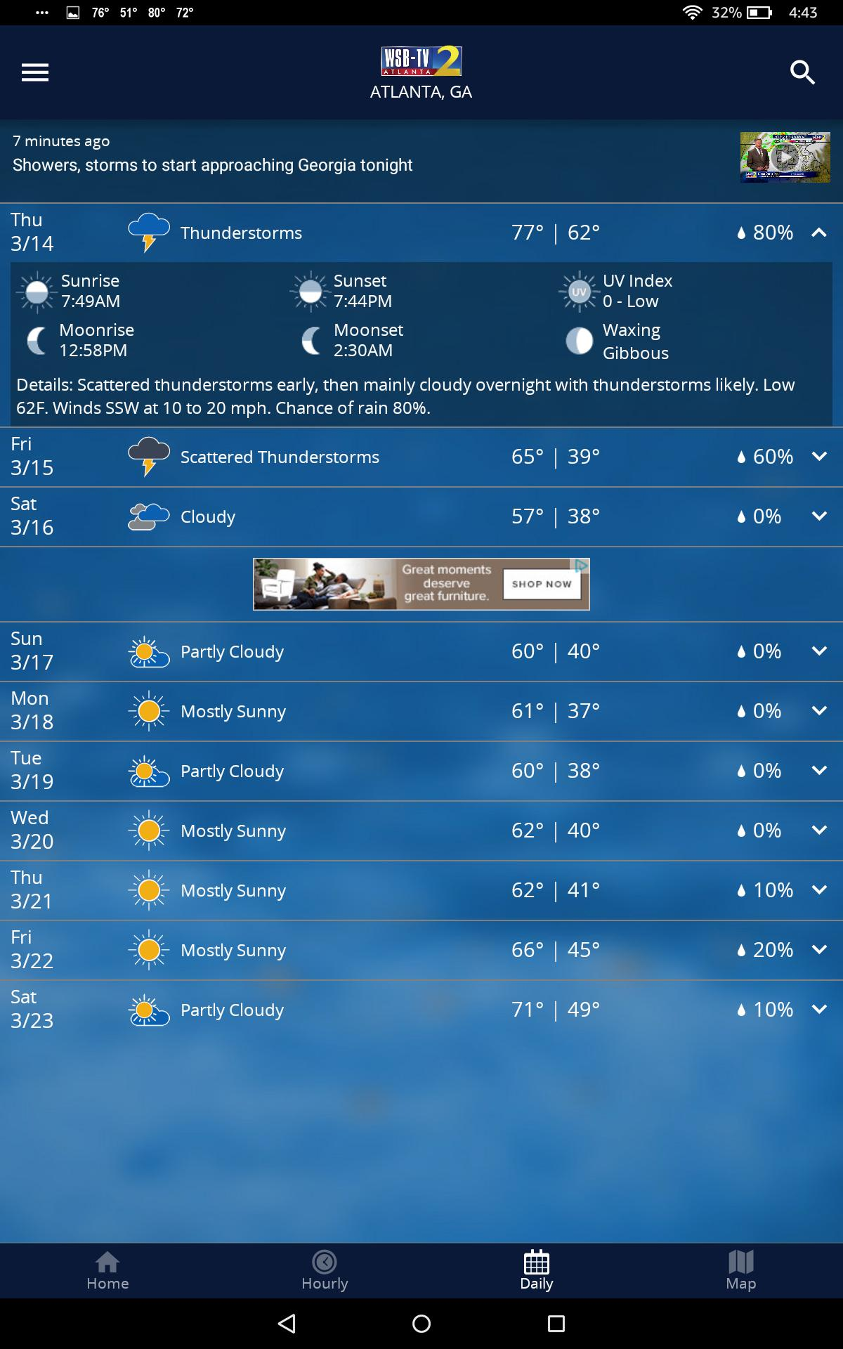 WSB-TV Channel 2 Weather for Android - APK Download
