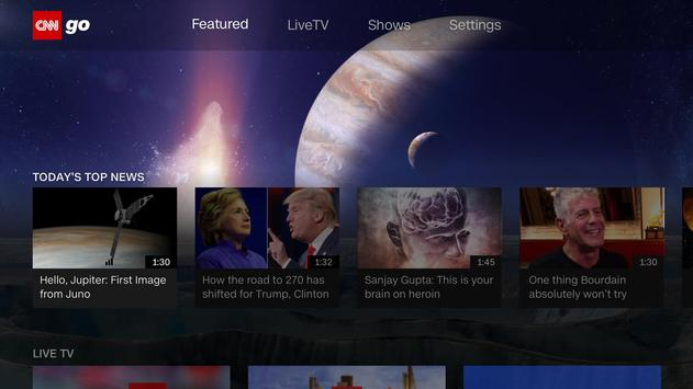 CNNgo for Android TV स्क्रीनशॉट 1