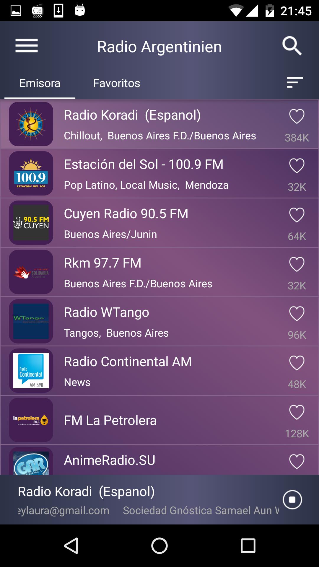 Kostenlose Radioapp