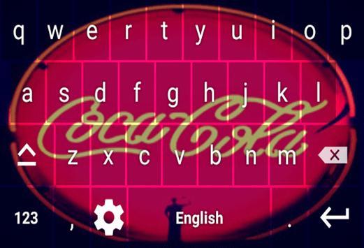 Keyboard Coca Cola screenshot 1