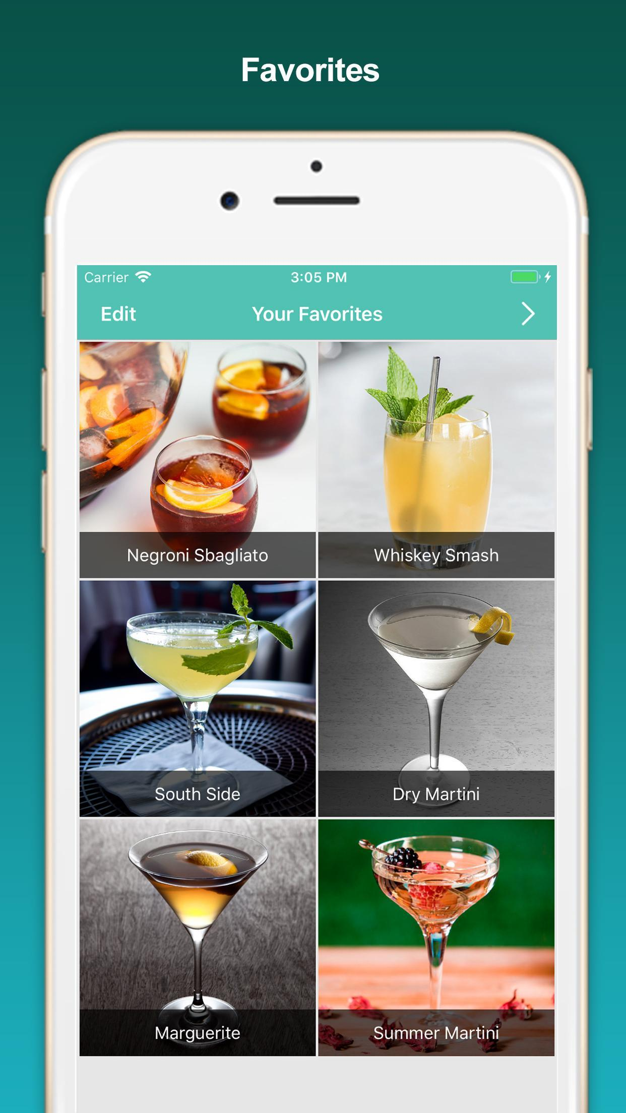 Cocktail Recipes, mixed drinks poster
