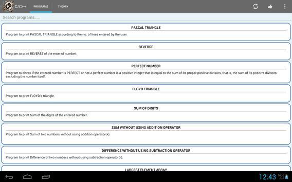 Codebook C,C++,Java,DBMS,DS,CN screenshot 6