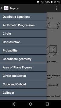 10th Class Math Formula poster