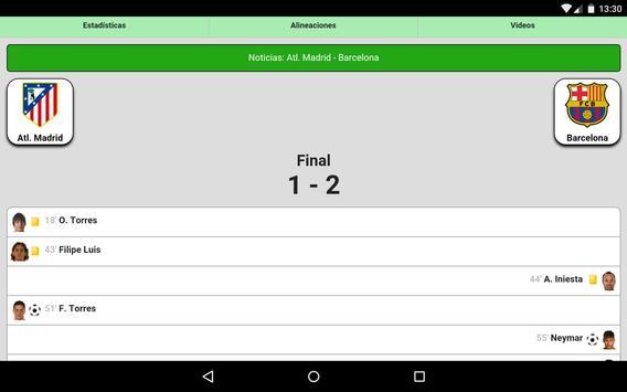 Fútbol en directo captura de pantalla 12