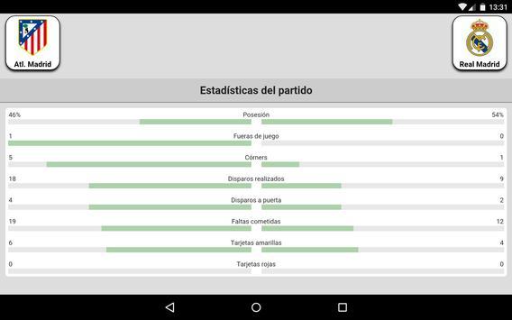Fútbol en directo captura de pantalla 19