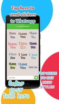 Texticker, Create Text Stickers - WAStickerApps скриншот 3