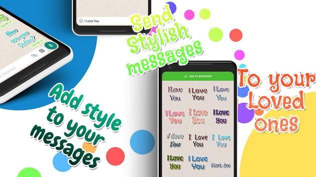 Texticker, Create Text Stickers - WAStickerApps скриншот 13