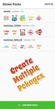 Texticker, Create Text Stickers - WAStickerApps скриншот 1